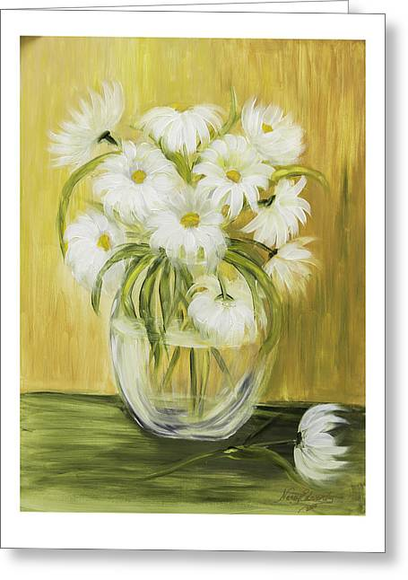 Bright And Sunny Greeting Card by Nancy Edwards