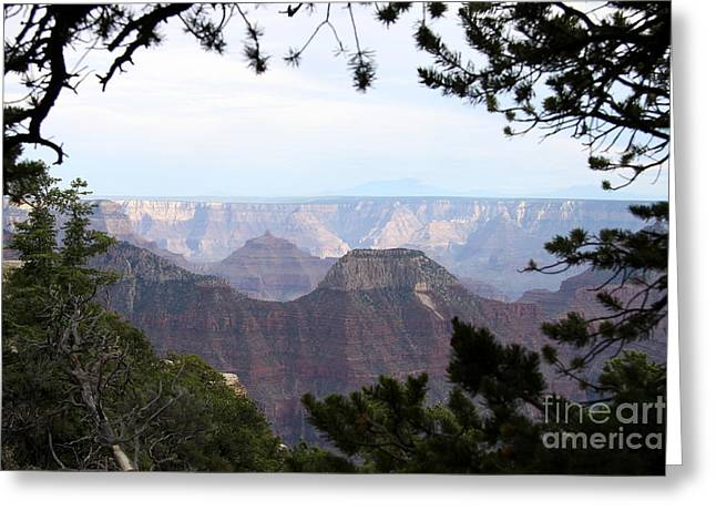 Bright Angel Point Trail View Greeting Card by Christiane Schulze Art And Photography