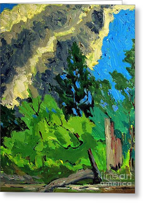 Bright Cloud Drift Greeting Card by Charlie Spear