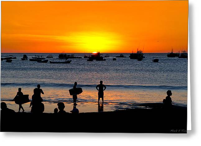 Bright New Future - Sunset On Nicaragua Greeting Card by Mark E Tisdale
