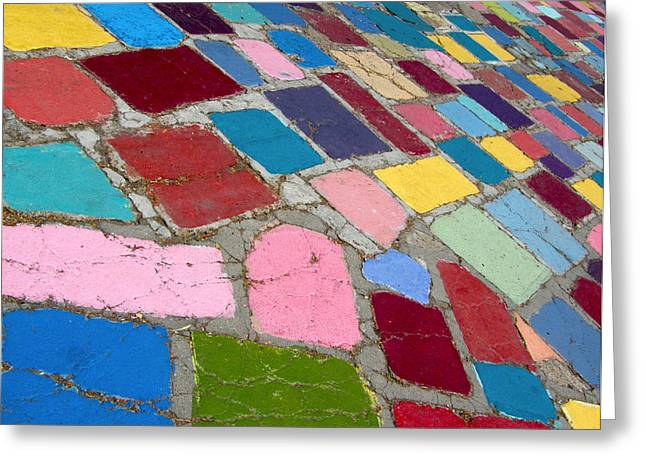 Bright Paving Stones Greeting Card