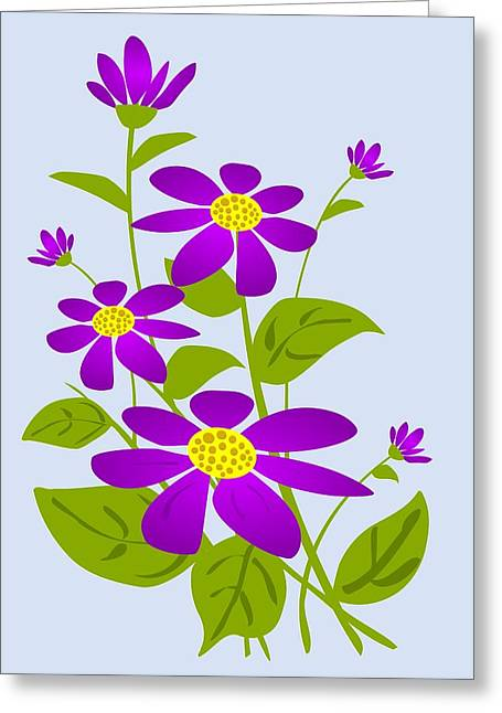 Bright Purple Greeting Card by Anastasiya Malakhova