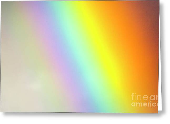 Bright Rainbow Spreading  Denali N P Greeting Card
