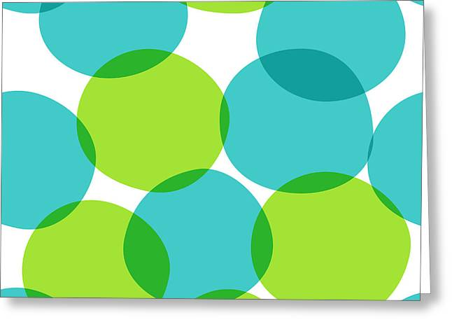 Bright Seamless Pattern With Circles Greeting Card by Yanakotina