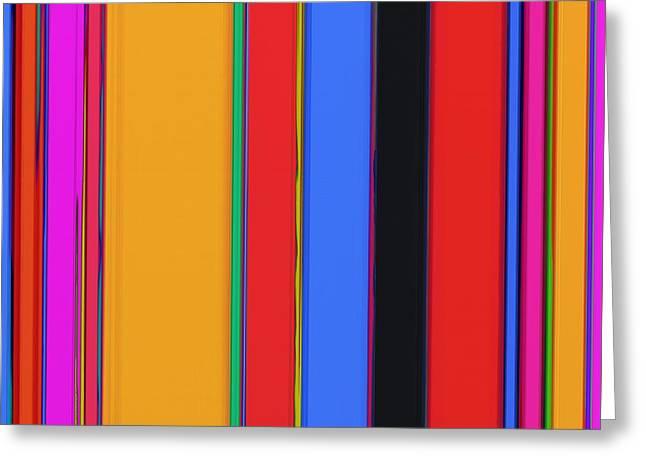 Bright Stripes Greeting Card
