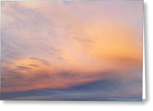 Bright Sunset Sky Greeting Card by Les Cunliffe