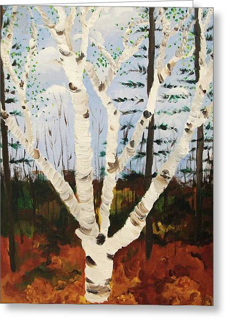 Brightest Birch Greeting Card by Suzanne  Marie Leclair