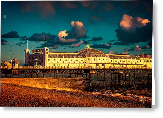 Brighton Palace Pier Sunset Greeting Card by Chris Lord
