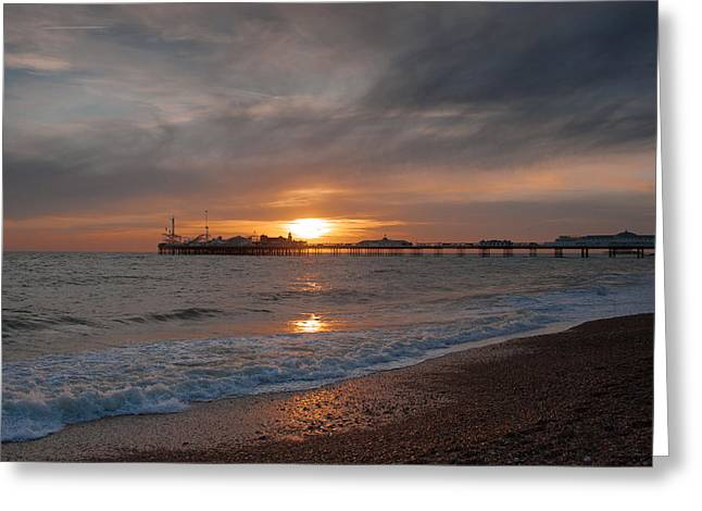 Brighton Pier Greeting Card by Jacqui Collett