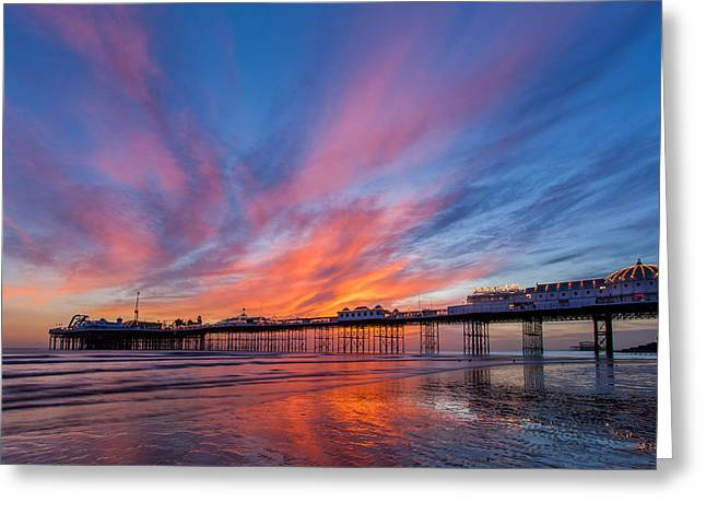 Brighton Sunset Greeting Card