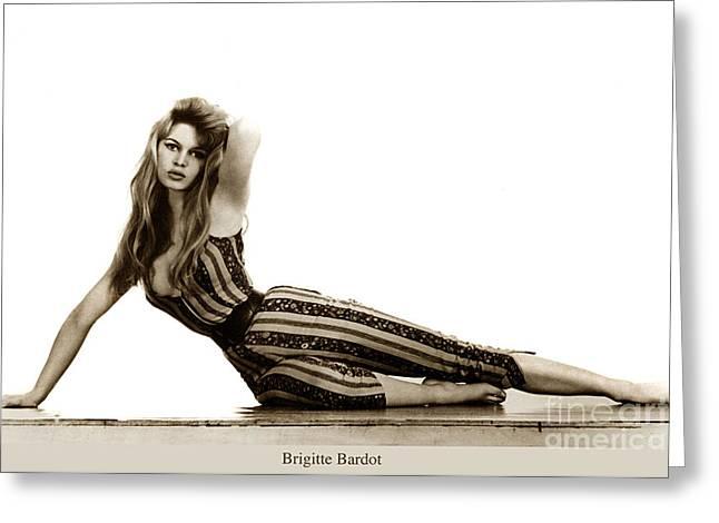 Brigitte Bardot French Actress Sex Symbol 1967 Greeting Card