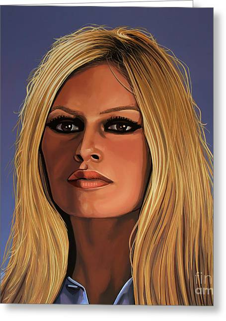 Brigitte Bardot Painting Greeting Card by Paul Meijering