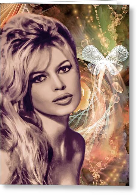 Brigitte Bardot Pop Art Greeting Card