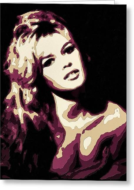 Brigitte Bardot Poster Art Greeting Card by Florian Rodarte