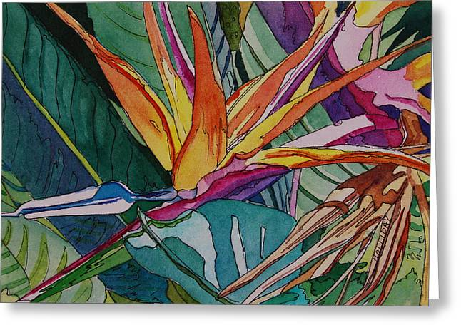 Brillant Bird Of Paradise Greeting Card