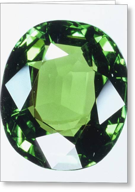 Brilliant Cut Green Grossular (garnet) Greeting Card by Dorling Kindersley/uig