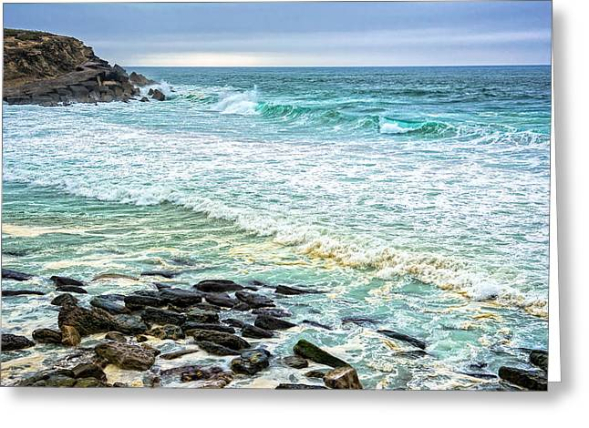 Brilliant Seascape In Portugal Greeting Card by Marion McCristall