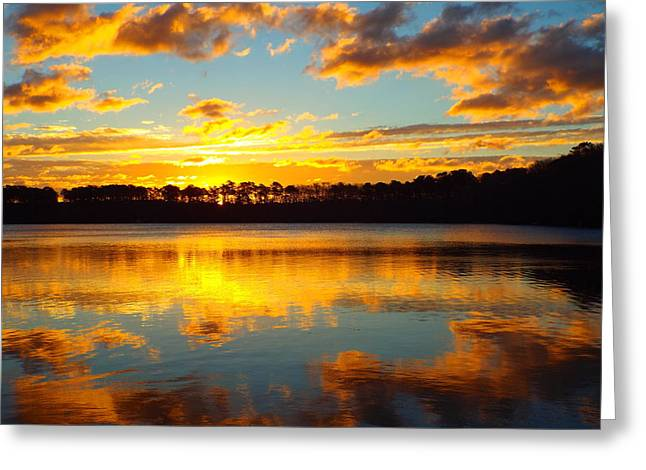 Greeting Card featuring the photograph Brilliant Sunrise by Dianne Cowen