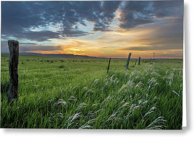 Brilliant Sunrise Over Ranchlands Greeting Card