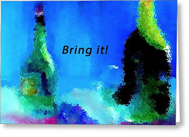 Greeting Card featuring the painting Bring It by Lisa Kaiser