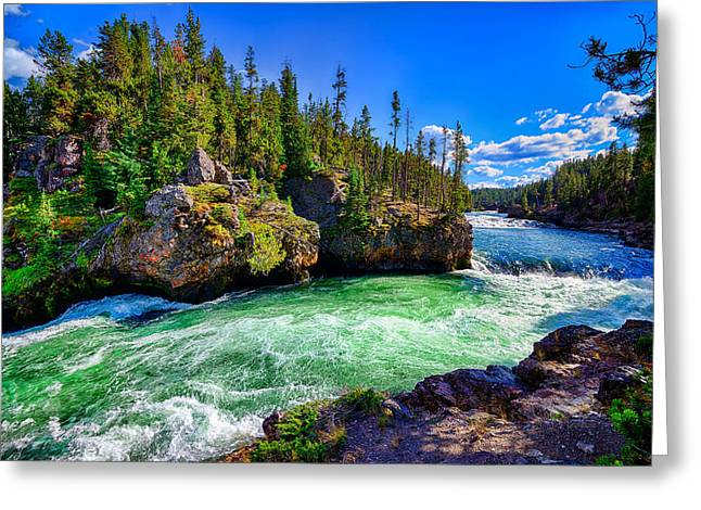 Greeting Card featuring the photograph Brink Of Upper Falls by Greg Norrell