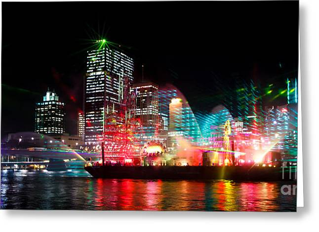 Brisbane City Of Lights Greeting Card
