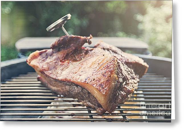 Brisket On The Bbq Greeting Card