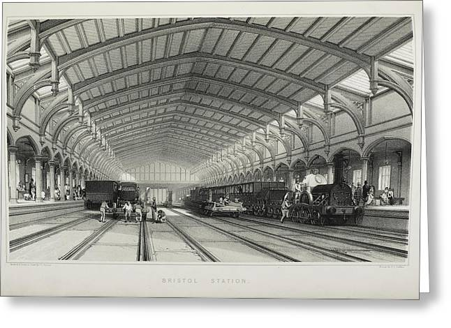 Bristol Station Greeting Card by British Library