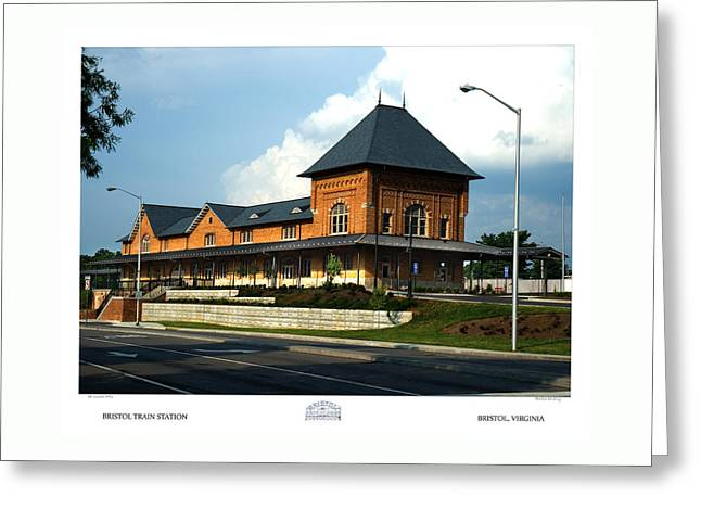 Bristol Train Station Bristol Virginia Greeting Card by Denise Beverly