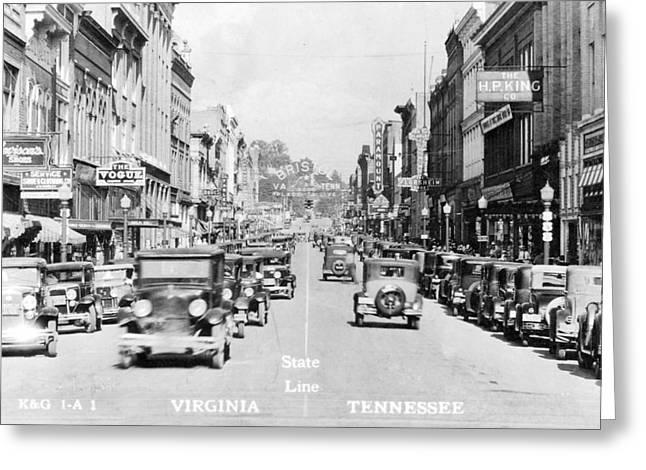 Bristol Virginia Tennessee State Street 1931 Greeting Card