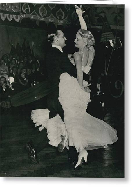 Brit I H Pajr Wins Dancing Grand Prix Greeting Card by Retro Images Archive