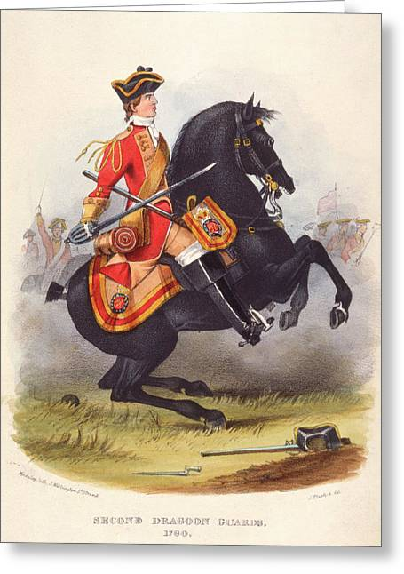Britain  A Member Of The Second Dragoon Greeting Card by Mary Evans Picture Library