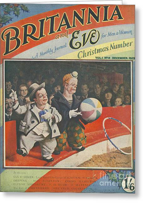 Britannia & Eve 1929 1920s Uk Dwarves Greeting Card by The Advertising Archives