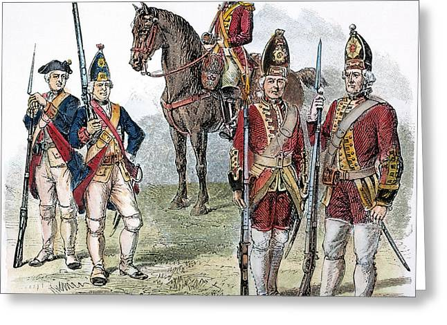 British & Hessian Soldiers Greeting Card by Granger