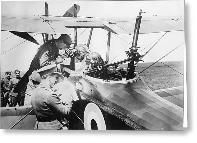 British Aircrew Being Briefed Greeting Card