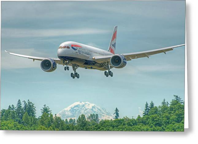 British Airways 787 Greeting Card by Jeff Cook