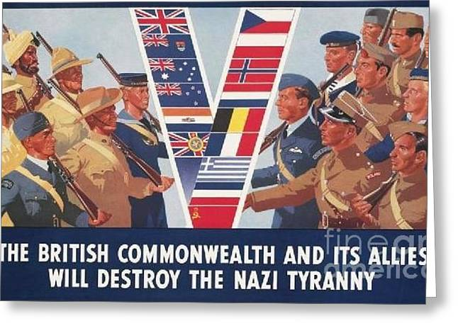 British Commonwealth And Allies Greeting Card