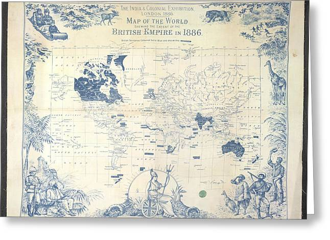 British Empire Map Greeting Card by British Library
