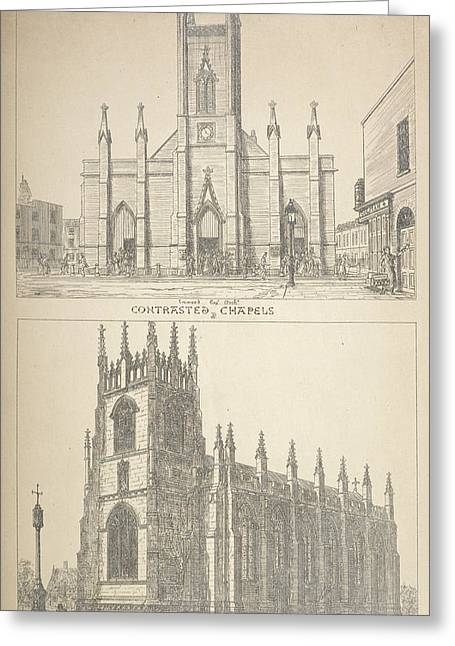 British Gothic Cathedrals Greeting Card by British Library