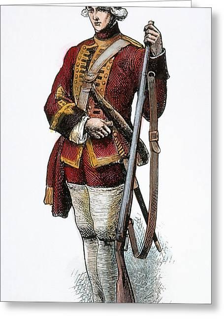 British Grenadier, 18th C Greeting Card