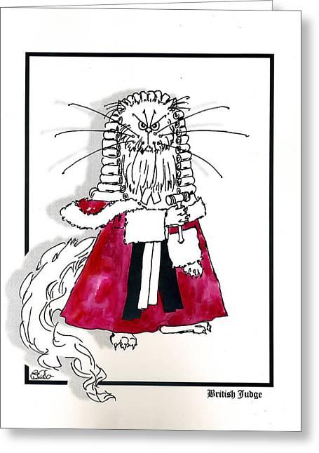 British Judge Greeting Card