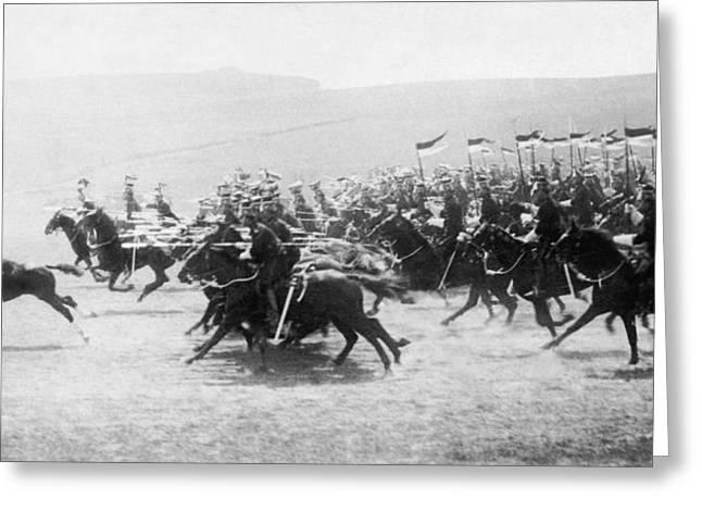 British Lancers Charging Greeting Card