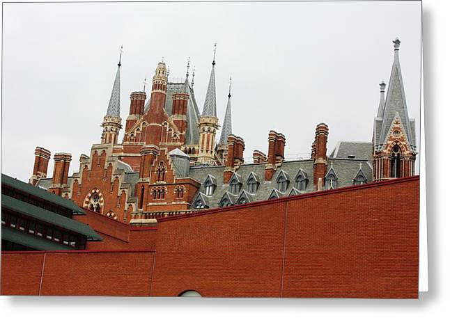 British Library And St. Pancras Greeting Card by Pat Purdy