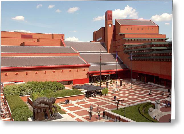 British Library Piazza Greeting Card by British Library