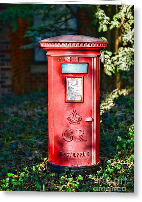 British Mail Box Greeting Card by Paul Ward