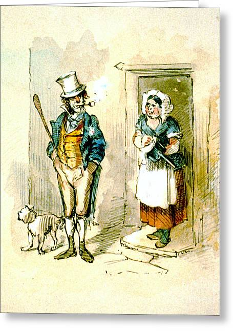 British Married Couple 1846 Greeting Card by Padre Art