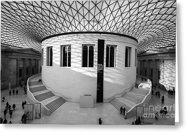 Greeting Card featuring the photograph British Museum Black And White by Matt Malloy