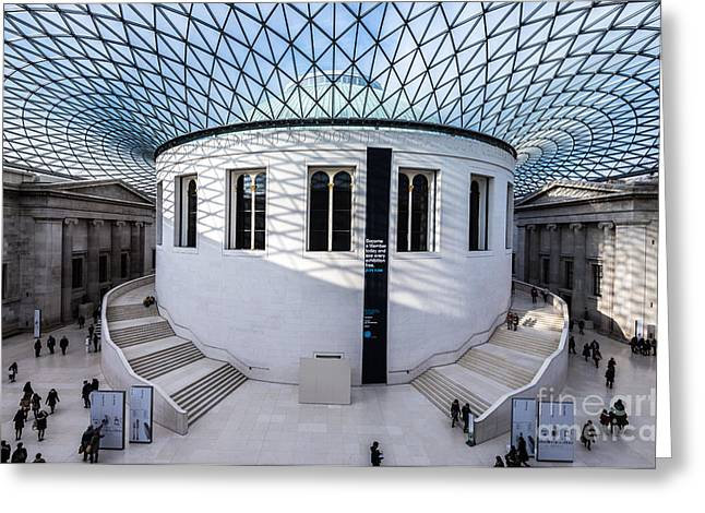 Greeting Card featuring the photograph British Museum Color by Matt Malloy