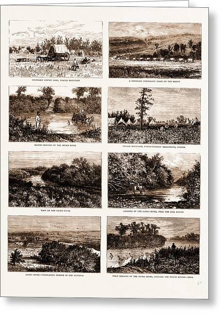 British North America Canada, 1881 On The South-western Greeting Card by Litz Collection