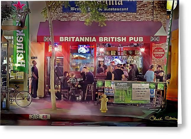 British Pub Greeting Card by Chuck Staley